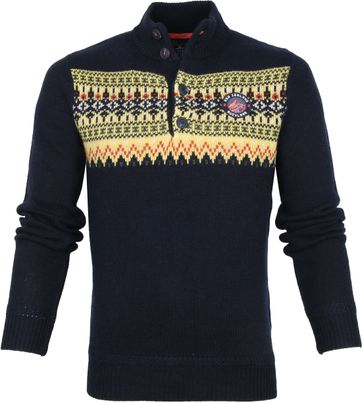 NZA Macarthur Mocker Sweater Navy