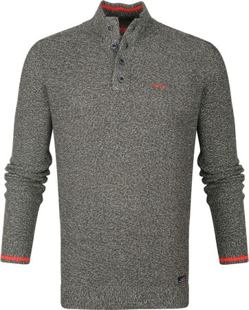 NZA Mangatete Mocker Sweater Dunkelgrün