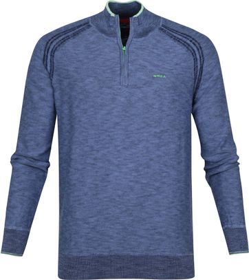 NZA Methven Half Zip Pullover Blau