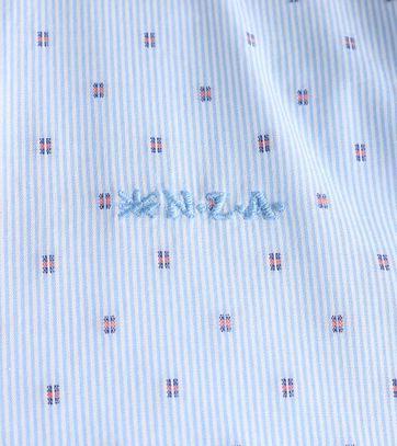 Detail NZA Overhemd Blauw 17AN515