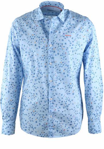 NZA Overhemd Blauw Print 17AN513