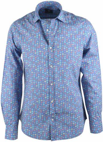 NZA Overhemd Blauw Print 17BN528