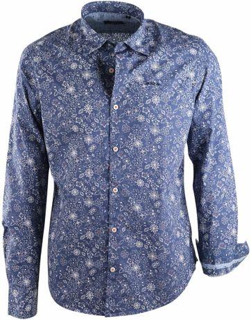 NZA Overhemd Blauw Print 17GN518