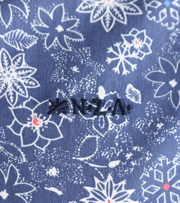 Detail NZA Overhemd Blauw Print 17GN518