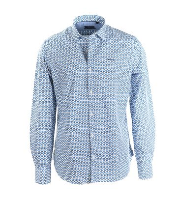 NZA Overhemd Blauw Print 17GN539