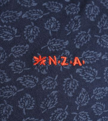 Detail NZA Overhemd Donkerblauw Print 17GN592