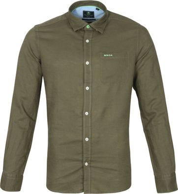 NZA Overhemd Edward Donkergroen