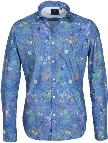 NZA Overhemd Fairhall Blauw Print
