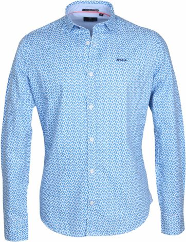 NZA Overhemd Jasper Blauw Print