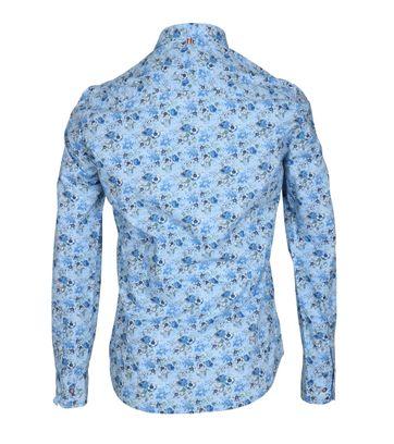 Detail NZA Overhemd Kairaki Blauw Print