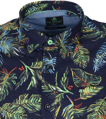 NZA Overhemd Korte Mouwen Waiotauru Multicolour