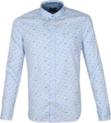 NZA Overhemd Malte Brun Lichtblauw
