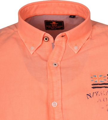 NZA Overhemd Rakaia Neon Oranje