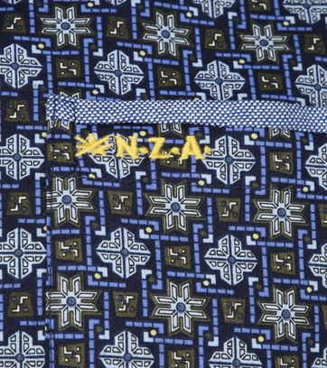 NZA Overhemd Rangiora Print Navy