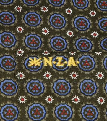 NZA Overhemd Taihiki Print Donkergroen