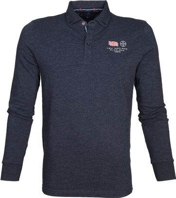 NZA Polo LS Marchant Navy