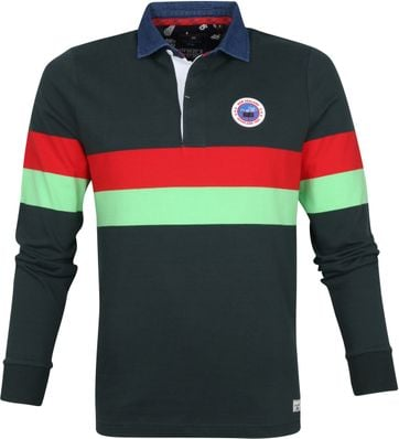 NZA Polo LS Weiti Dark Green
