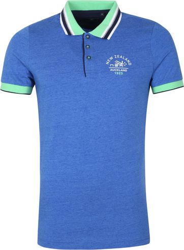 NZA Polo Shirt Fettes Peak Blue
