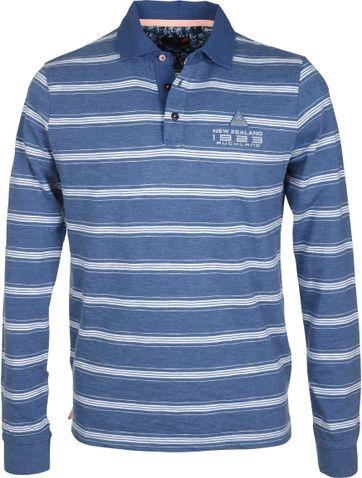NZA Poloshirt Blau Streifen