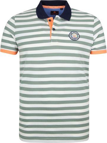 NZA Poloshirt Castor Streifen Grün