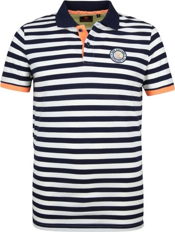 NZA Poloshirt Castor Stripes Navy