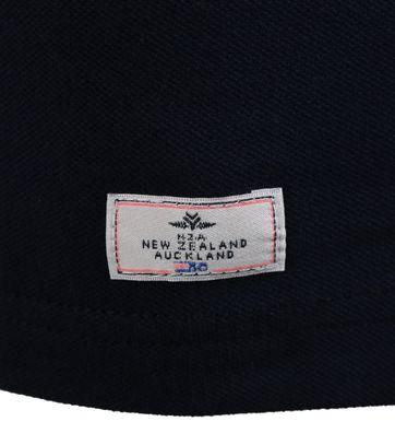 Detail NZA Poloshirt Donkerblauw