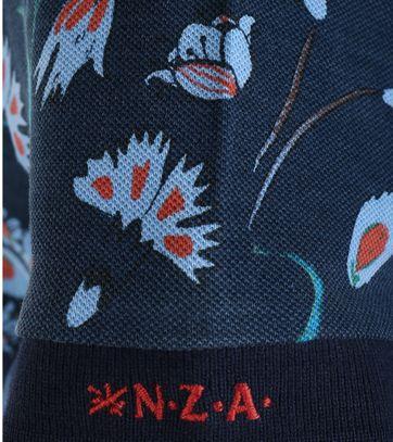 Detail NZA Poloshirt Donkerblauw Print 16AN111