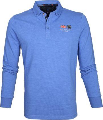 NZA Poloshirt LS Marchant Royal Blue