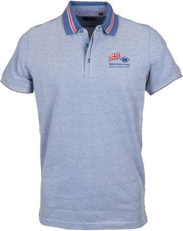 NZA Poloshirt Melange Blau