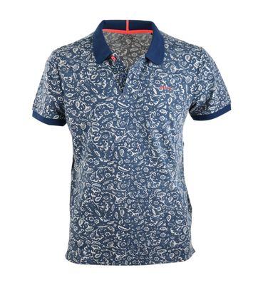 NZA Poloshirt Navy Print