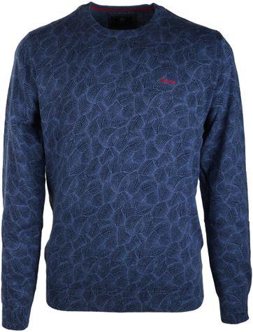 NZA Pullover Blau Print 16MN403