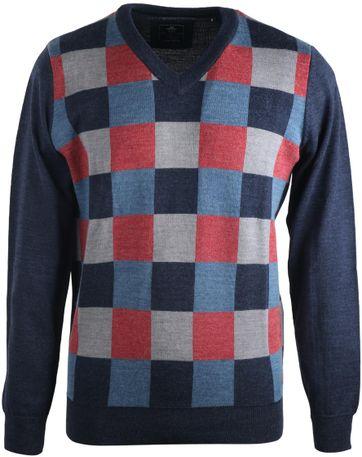 NZA Pullover V-Neck Check 16GN499