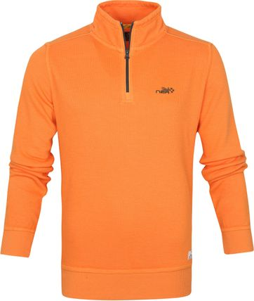 NZA Red Peak Pullover Half Zip Orange
