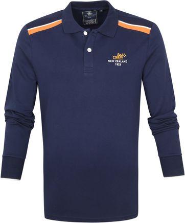NZA Renwick Longsleeve Polo Shirt Navy