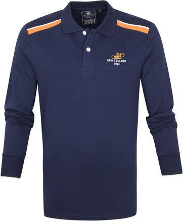 NZA Renwick Longsleeve Poloshirt Navy