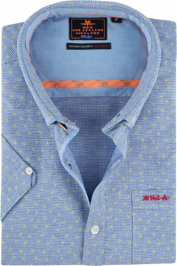 NZA Shirt Magellan Blue Green