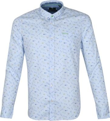 NZA Shirt Malte Brun Light Blue