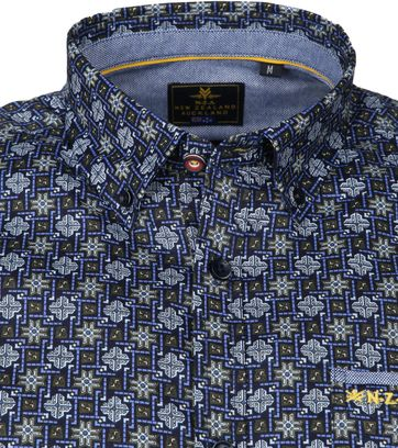 NZA Shirt Rangiora Design Navy