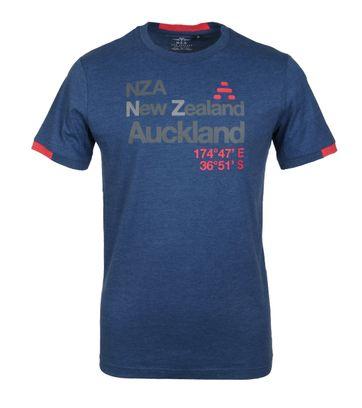 NZA T-Shirt Kapoai Dunkelblau