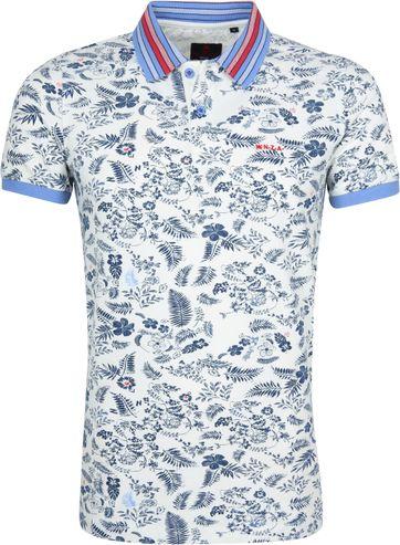 NZA Taupo Poloshirt Weiß Navy