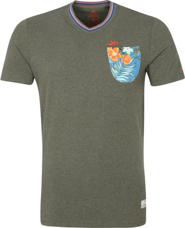 NZA Te Arai T-shirt Army Groen