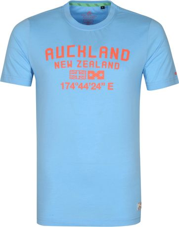 NZA Te Au T Shirt Blue