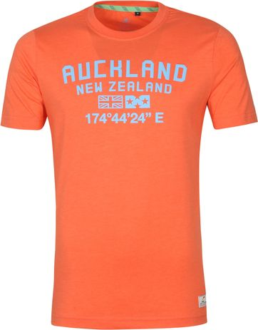 NZA Te Au T Shirt Orange