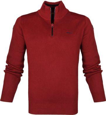 NZA Waikuku Beach Half Zip Sweater Rot