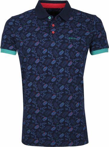 NZA Wairoa Poloshirt Print Dark Blue