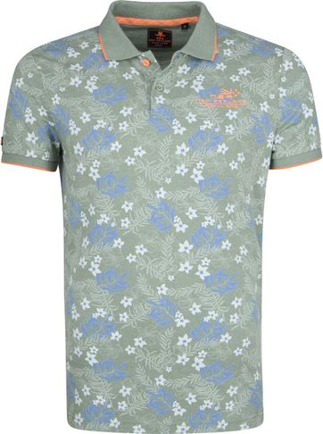 NZA Waitoa Poloshirt Print Grün