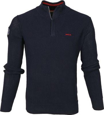 NZA Wakapuaka Half Zip Sweater Dunkelblau