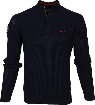 NZA Wakapuaka Half Zip Sweater Navy