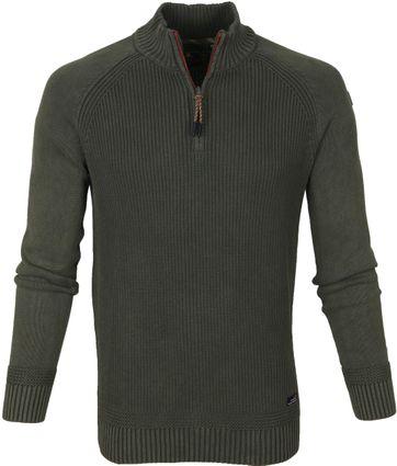 NZA Wakapuaka Half Zip Sweater Olijfgroen