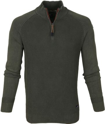 NZA Wakapuaka Half Zip Sweater Olive Green